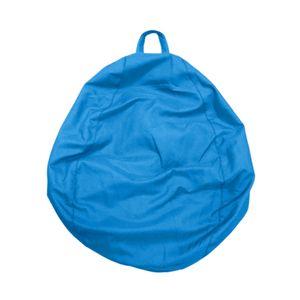 Einfarbig Leinen Sitzsack Abdeckung Sofa Schonbezug Mit Griff Kinder Spielzeug Lagerung 2 60x75cm Himmelblau