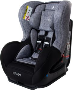 Osann Baby-Kindersitz Safety Baby Black Melange - Geburt bis 25 kg (Geburt bis ca. 8 Jahren) - Befestigungsart 3-Punkt-Gurt - grau , schwarz