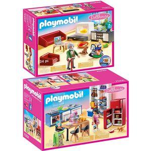 PLAYMOBIL 70206 70207 Dollhouse 2er Set Familienk?