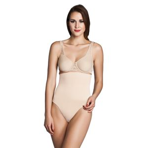 Miss Perfect Shapewear Damen - Bauchweg Unterhose Damen (S-XXL) Body Shaper seamless Miederhose Damen Bauch weg Hose - formend & kühlend, Farbe:Haut (SK), Größe:S