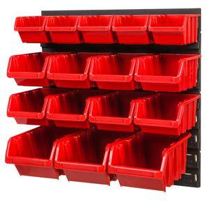 Stapelboxen Wandregal Box Sichtlagerkästen Schüttenregal Lagersystem 16 Boxen