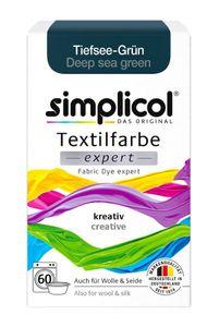 Simplicol Textilfarbe expert für kreatives Färben in Tiefsee Grün