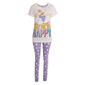 Disney Damen Daisy Duck Pyjama Set 202 (34/36 DE) (Weiß/Violett)