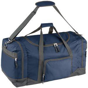 tectake Reisetasche mit Schultergurt 90 Liter - blau