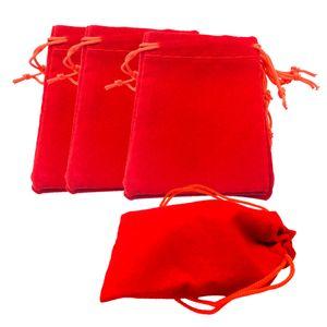 50 Stück Samtschmuck Kordelzug Geschenkbeutel Beutel Hochzeitsfeier Gunst Variieren Farbe Farbe rot