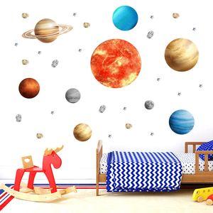 9-Planeten Sonnensystem Wandsticker,  Wandaufkleber Hausdekoration Wanddekoration für Kinderzimmer Kindergarten Baby Schlafzimmer Wohnzimmer