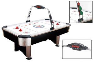 Bandito Airhockey Tisch Stratos Profi Airhockeytisch 7 ft. elektronische Anzeige