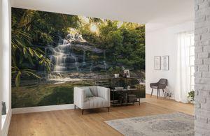 """Komar Vlies Fototapete """"Golden Falls"""" - Größe: 450 x 280 cm (Breite x Höhe) - 9 Bahnen"""