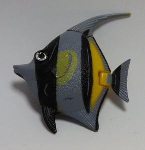 Wassersäulen Zubehör Fisch grau große Flosse -#3605