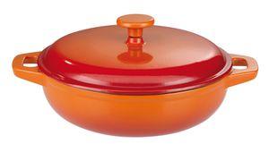 Gusseisen Schmortopf Orange Shadow 30cm