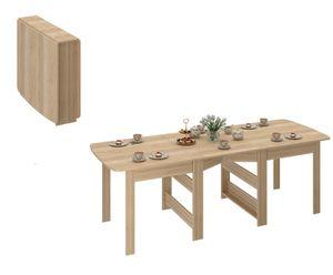 Klapptisch - Klappbarer Tisch - Esstisch ausklappbar bis 240 cm -  Küchentisch - Funktionstisch Eiche Sonoma CK-2