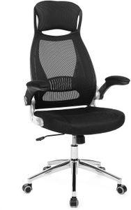 SONGMICS Bürostuhl Stühle Drehstuhl Chefsessel Bürodrehstuhl Schreibtischstuhl Schwarz OBN86BK