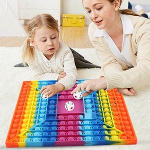 Schachbrett Regenbogenfarben Push Pop It Pop Bubble Spielzeug  ,Verwendet für Autismus, Stress Abzubauen Fidget Toy