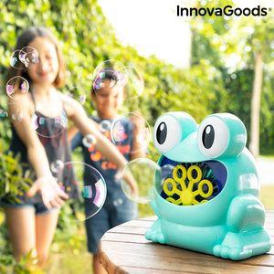 GKA automatische Seifenblasenmaschine Frosch Batteriebetrieben Seifenblasen für Kinder und Erwachsene