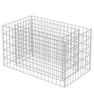 vidaXL Gabionen-Hochbeet Verzinkter Stahl 90×50×50 cm