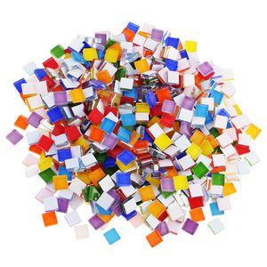390 Stück Sortierte Farbe Quadratischen Glas Mosaik Fliesen Für Diy Handwerk Liefert