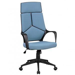 AMSTYLE Bürostuhl Stoffbezug Blau Schreibtischstuhl Design Chefsessel Drehstuhl mit Wippmechanik & Armlehne
