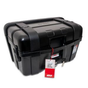 GiVi Trekker 46 - Monokey Koffer schwarz mit Alu Cover schwarz / Max Zuladung 10 kg
