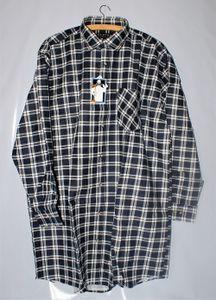 ELUTEX Flanellhemd Extralang Rückenlänge Karohemd 8300 Baumwolle Herren Hemd , Größe:L, Farbe:Braun