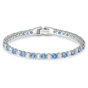 Swarovski Armband 5536469 Tennis Deluxe, blau, rhodiniert