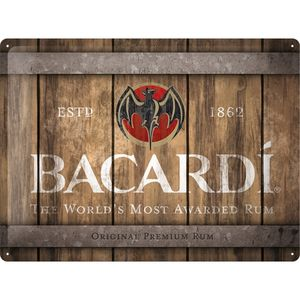 Nostalgic-Art - Blechschild Metallschild 30x40cm - Bacardi Logo