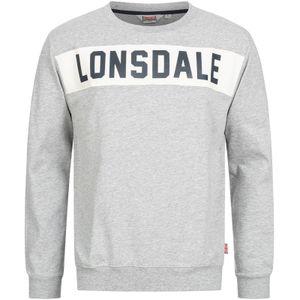 Herren Rundhals Sweatshirt HETHERSETT Marl Grey XXXL Lonsdale
