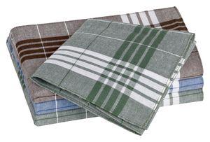 Tobeni 20 Herren Taschentücher Stoff für die Arbeit Arabias 100% Baumwolle Blau Braun Grün 40 x 40 cm