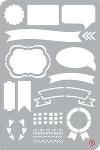 "Bullet Journal Schablone ""Banner"", Format 12 x 18 cm"