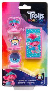 Trolls briefmarkensatz Mädchen rosa/blau 4-teilig