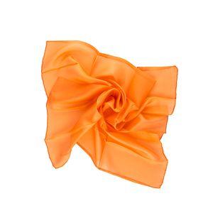 Nickituch Seidentuch orange Seide 55x55cm