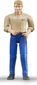 Bruder 60006 bworld - Mann, blond mit blauer Hose
