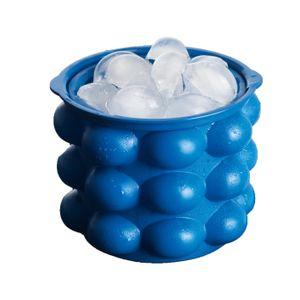 GOURMETmaxx Eiswürfelbehälter 24 Eiswürfel Blau Kühlbox Flaschenkühler Isobox