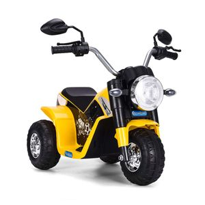 COSTWAY Elektro Motorrad, Kindermotorrad batteriebetrieben, Elektromotorrad mit Stuetzraedern, Kinder Motorrad, Kinderfahrzeug 57x72x56 cm gelb