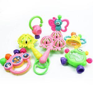 7 PCS Baby Rassel Baby Frühpädagogik Handglocke Lernspielzeug 0-3-6-12 Monate