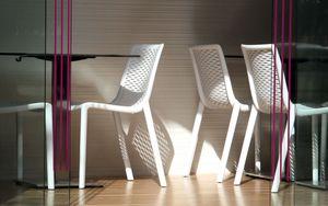 Resol Design Stuhl Netkat Gartenstuhl Barcelona Dd - Schwarz 2 Stück