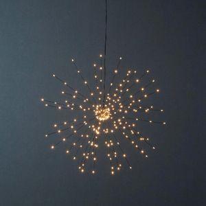 3D-LED-Hängestern 'Firework' - 200 warmweiße LED - schwarz - D: 50cm - Material: Metall