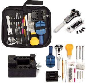 Uhr Reparaturset Uhrenwerkzeug Set Uhrmacherwerkzeug mit Tragbar Nylontasche Profi Watch Tool 147tlg