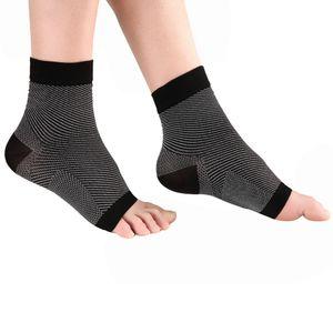 2 Paar Fußbandage Kompressionssocken Kompression Knöchelbandage Fußgelenkstütze für Schmerzlinderung und Blutzirkulation
