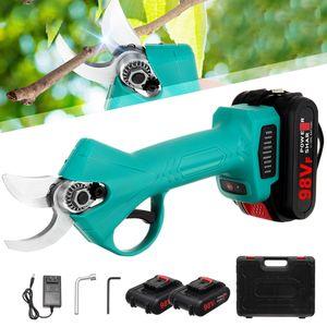 MECO Elektrische Schnittschere Gartenschere 30 mm Schnittdurchmesser 3-4 Arbeitsstunden Akku-Astschere mit 2x Wiederaufladbare Batterien