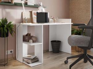 Mirjan24 Schreibtisch Taro, Stilvoll Computertisch vom Hersteller, Computermöbel, Arbeitszimmer  (Farbe: Weiß)
