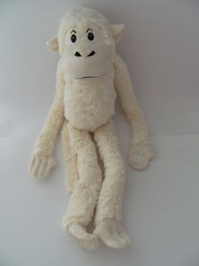 Stofftier Hängeaffe, beige, 70 cm, hängend, Kuscheltier Plüschtier, Affe Affen Hängeaffen