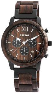 Raptor Herren Uhr Holz Armbanduhr Sandelholz RA20255-002