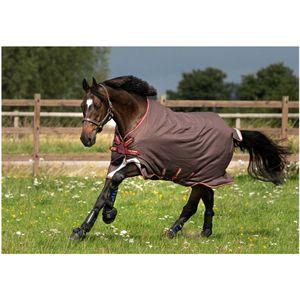 Horseware Amigo Bravo 12 Turnout 0g Lite DISC - Brown/Red, Gold & Red, Größe:145