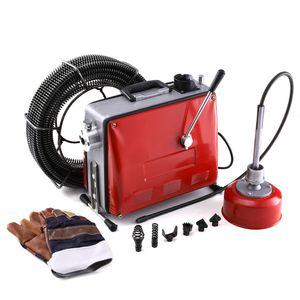 400W Rohrreinigungsgerät Rohrreiniger Rohrreinigungsmaschine Abflussreiniger + 6 Köpfe