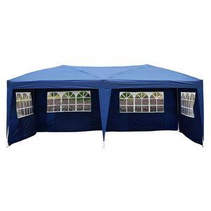 Outsunny 3x6m Pavillon Faltpavillon Faltzelt Partyzelt Gartenzelt inkl.4 Seitenteile Blau
