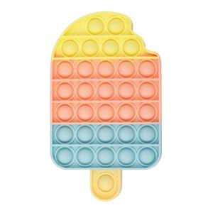 100X Pop it Bubble Zappeln Sensorisches Spielzeug,Autismus Besondere Bedürfnisse Stressabbau Angst Linderung Spielzeug,Push Pop Bubble(Eis)