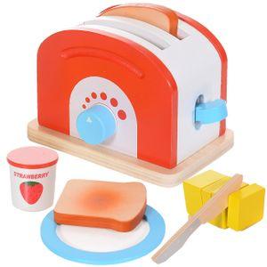 Toaster Spielküche Haushaltsgerät Kinder Spielzeug Holz massiv 10 Teile XL Set