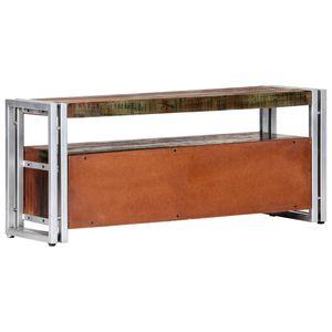 Moderne TV-Schrank 90x30x40 cm Altholz Massiv Leicht zusammenzubauen TV Lowboard TV Möbel