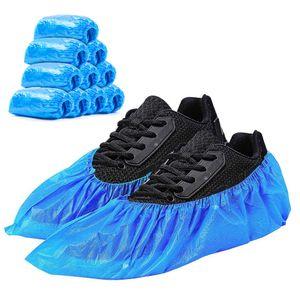 100 Schuhüberzieher Einweg - Überziehschuhe wasserdicht und extradick - 50 Paar Überschuhe aus hochwertigem CPE Material