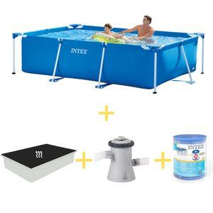 Intex Frame Pool - 260 x 160 x 65 - Inklusive Solarsegel, Filterpumpe & Filter